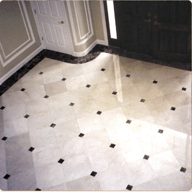 newly restored marble floor